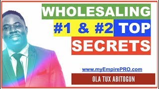 REAL ESTATE WHOLESALING | #1 & #2 Top 3% Producer Secrets