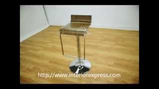 Interiorexpress Lem Walnut  Adjustable Swivel Piston Bar Stool