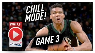 Giannis Antetokounmpo Full Game 3 Highlights vs Raptors 2017 Playoffs - 19 Pts, 8 Reb, Chilling