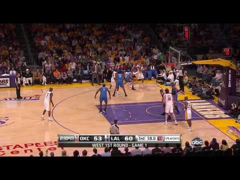 Lakers Highlights vs Thunder game 1 NBA Playoffs HD