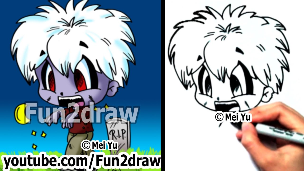 Drawing Lessons  How To Draw A Zombie  Fun Things To Draw  Fun2draw   Youtube