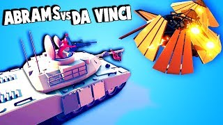TABS NEW ABRAMS vs DAVINCI TENKS!  (Totally Accurate Battle Simulator Gameplay TABS 2.0 Previews)