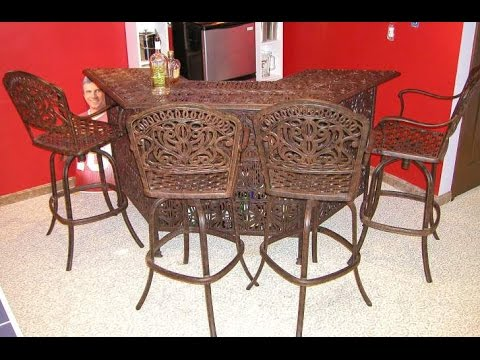 Wrought Iron Bar Stools With Arms