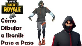 Drawing the Skin Ikonik FORTNITE! TUTORIAL STEP BY STEP