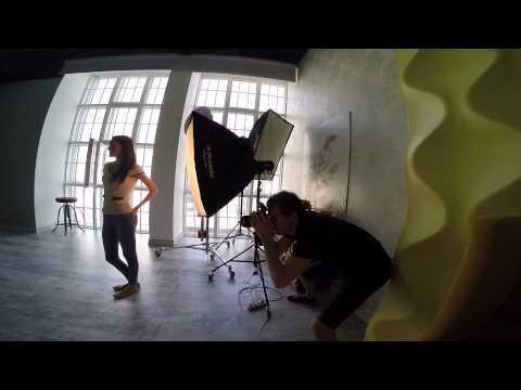 Первая фотосессия в студии