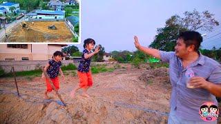 พ่อบอมพาไปดูที่ดิน สร้างบ้านใหม่ให้หนูยิ้มหนูแย้ม