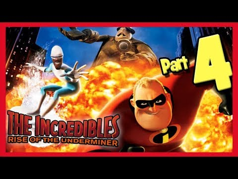 The Incredibles: Rise of the Underminer Walkthrough Part 4 Robot Factory