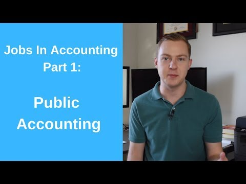 Public Accounting: Jobs In Accounting, Part 1