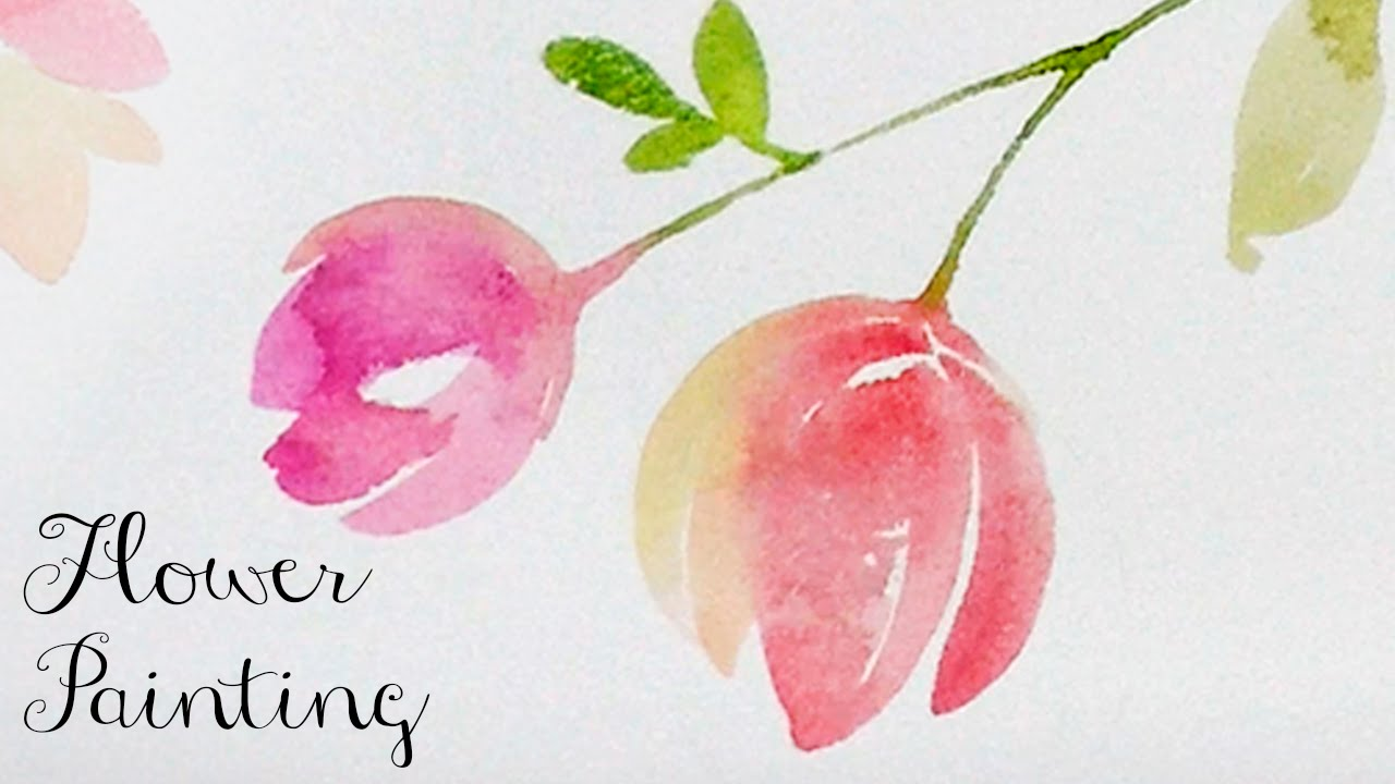 Lvl2 watercolor tutorial how to paint flowers youtube for How to paint a rose in watercolor step by step