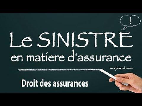 Droit des assurances: Le SINISTRE en matière d'assurance