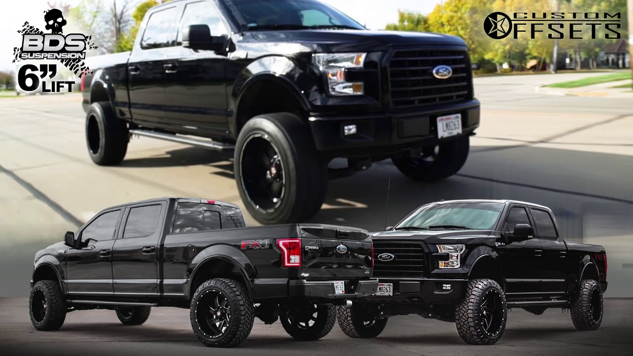 """20 Inch Rims For Ford F150 >> Ford F-150 6"""" BDS Lift Kit - (22x12) Ballistic Guillotine wheels - YouTube"""