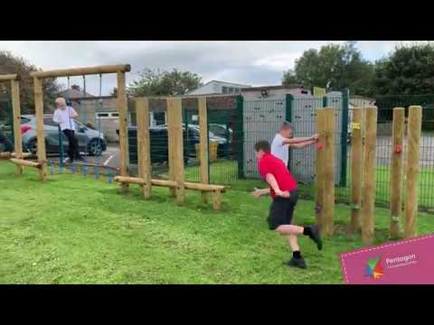 Playground Equipment At Hutton Henry School