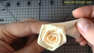 Мастер-класс по созданию розы из ленты (handmade ribbon rose)(Домашнее рукотворчество! Блог обо всём, что можно можно создать своими руками и в простейших домашних усло..., 2011-05-24T07:46:31.000Z)