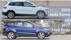 2018 Skoda Karoq vs 2017 Ford Kuga technical comparison