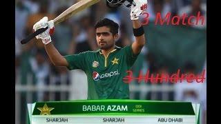 vuclip Babar Azam record 3 match 3 100