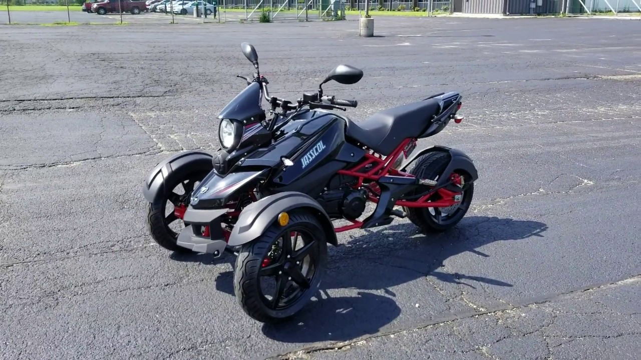 200cc Tryker Trike Scooter Motorcycle Moped Fully