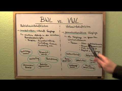 Unterschied bwl vwl