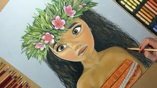 Drawing Moana (Disney Princess). Soft Pastel.(This Speed Drawing video shows How to Draw Moana Cartoon Character (Disney Princess). Drawing Soft Pastel and other Art Materials. Art Time Lapse Video ..., 2016-11-30T12:24:45.000Z)
