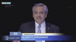 Debate Presidencial 2019: Presentación de Alberto Fernández