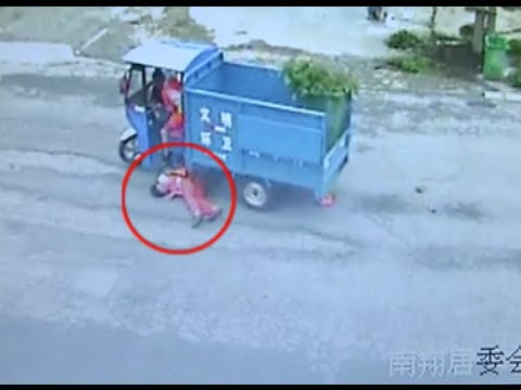 Sanitation Worker Survives Vehicle Hit in E China