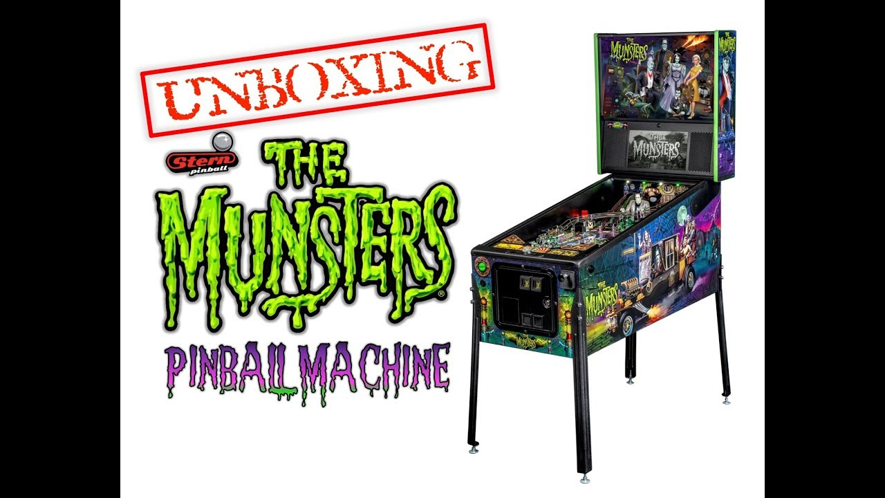 Unboxing a Munsters Pinball Machine