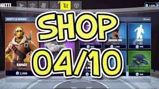 SHOP FORTNITE 4 OTTOBRE: SKIN RAPACE, ABSTRAKT, SPECIALISTA SURVIVALISTA E SQUADRA SUB EMOTE TWIST
