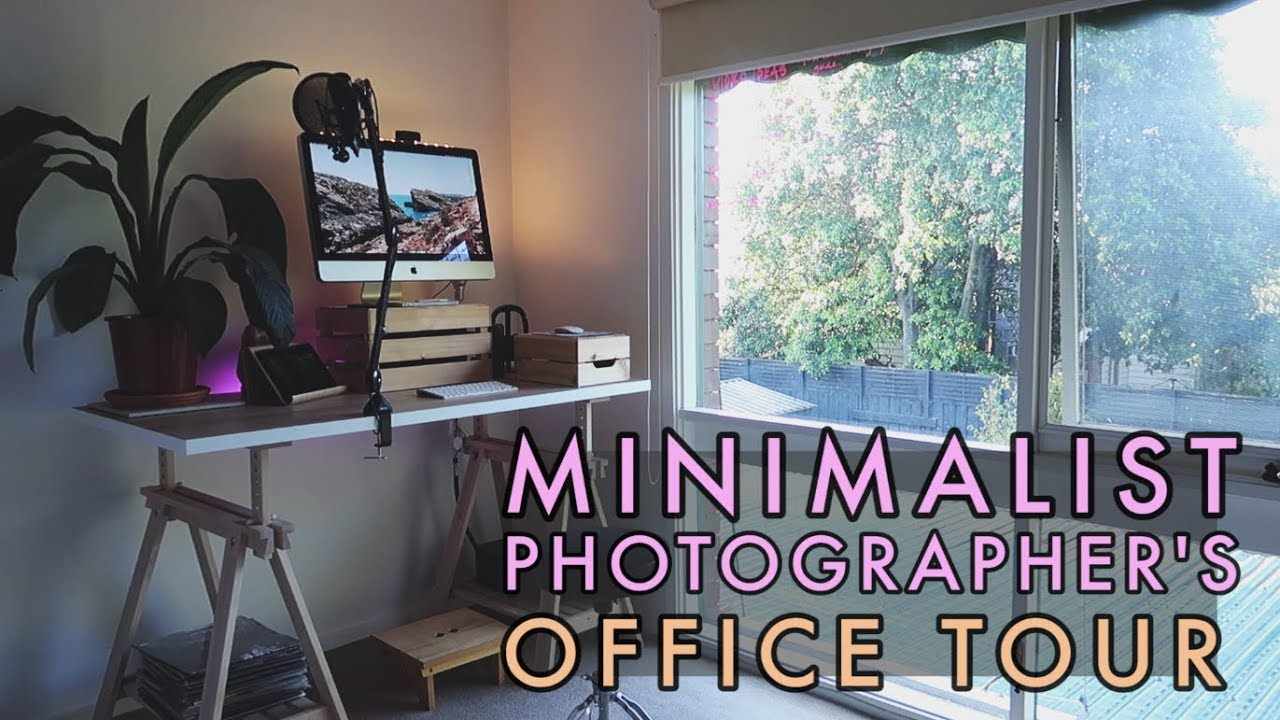 - Minimalist Photographer Office Tour/ Desk Setup - YouTube