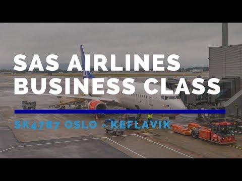 SAS Scandinavian Airlines Business Class SK4787 Oslo to Keflavik 2017 AUG スカンジナビア航空ビジネスクラス 北歐航空商務艙