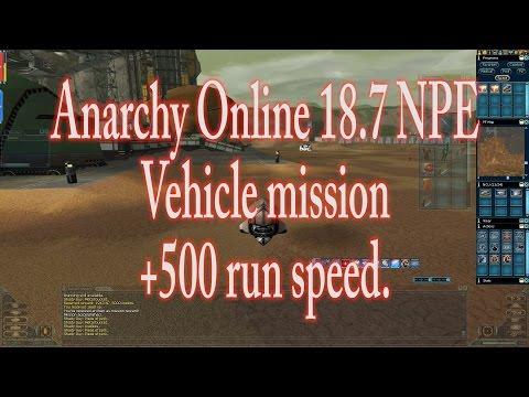 Anarchy Online 18.7 NPE Vehicle mission +500 run speed (1080p60 Gameplay / Walkthrough)