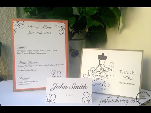 DIY Wedding Place Cards, Menus & Thank You Cards