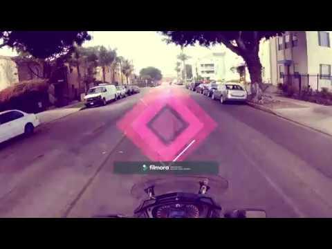 Long Beach ride Can Am Girl Spyder rider