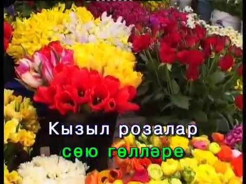 Кызыл розалар.Татарча Караоке | Татарская песня