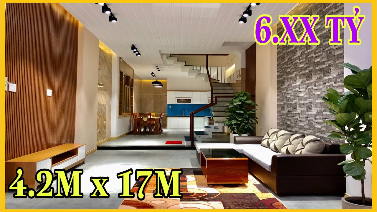 Bán nhà Gò Vấp( 178 )4.2m x 17m Nhà đẹp Hẻm 8M đúc 4 lầu Nội thất cao cấp Lê Văn Thọ Gò Vấp