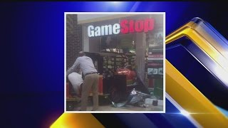 Eastwood Mall Train Crashes Through Game Stop Window