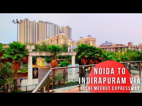 Noida City To Indirapuram Via Delhi Meerut Expressway | Indirapuram Habitat Centre