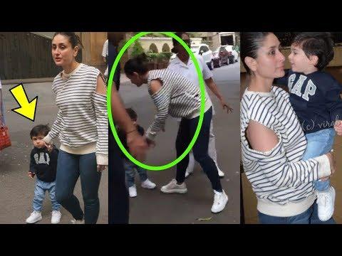 Taimur Ali Khan Can't Stop Blushing As Mom Kareena Kapoor Khan Picks Him Up Mp3