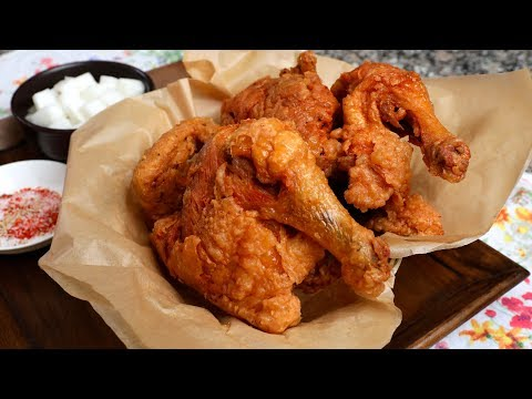 Korean Fried Chicken Market-style  (Sijang-tongdak: 시장통닭)