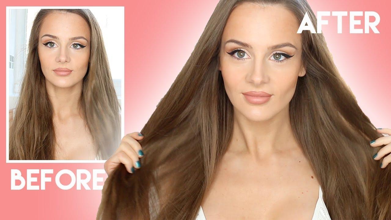 10 Hair Care Tips For Dry Hair How To Get Healthy Shiny Hair Peachy Youtube