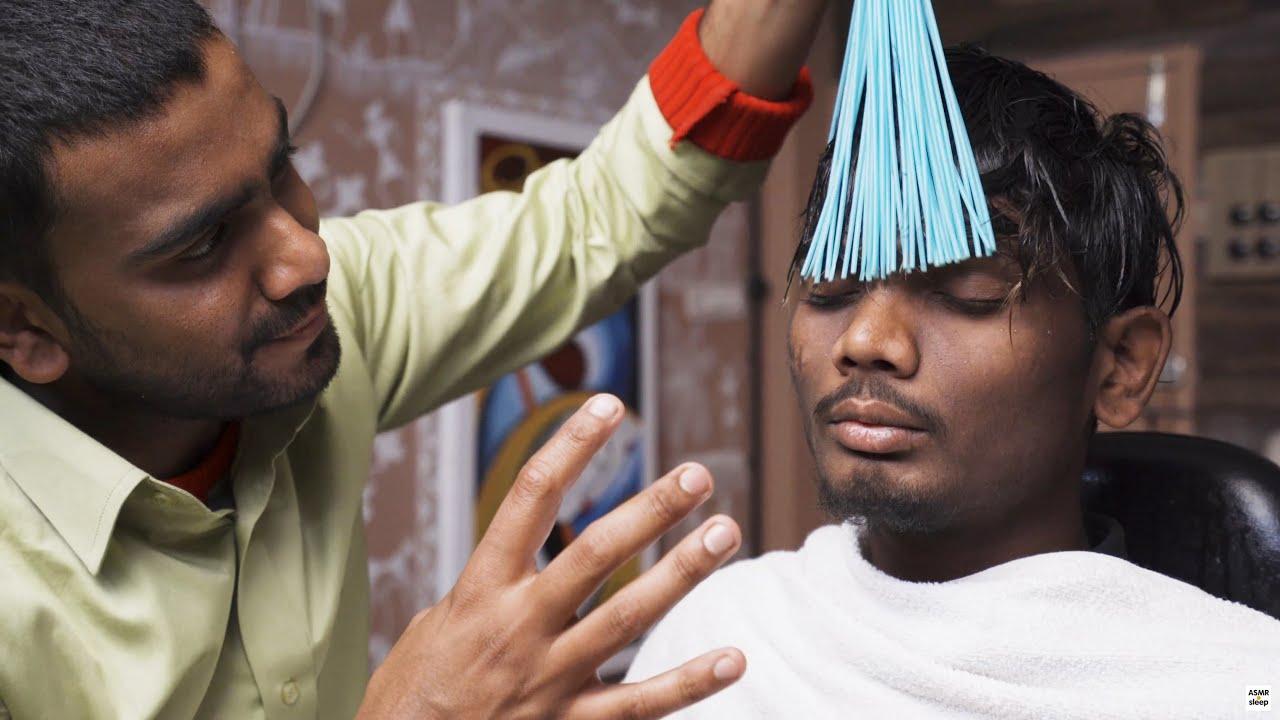 BABA JUNIOR vs RAVINDRA 💛 COSMIC MASSAGE 💛 World's Greatest Head Massage 💛 ASMR sleep