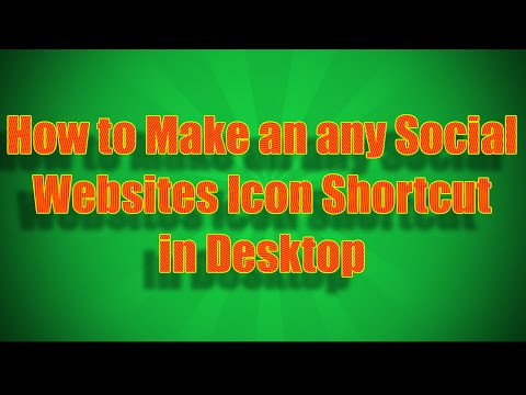 how to make an any Social Websites icon shortcut in desktop