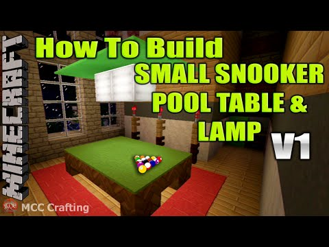 Minecraft how to build small snooker pool billard ball for How to build a billiard table