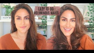Easy Voluminous Waves With Bumble Bumble Thickening Products Youtube