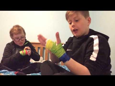 DIY (DUCK TAPE) BOXING GLOVES w/Logan