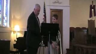 Sonny and Joshua Ausman trombone