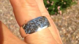 Awesome Dinosaur Bone! Blue Dinosaur Bone Ring by Hileman Silver Jewelry