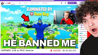 I Stream Sniped Tfue & got BANNED on Fortnite