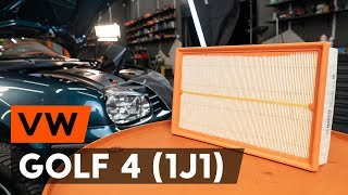 How to change Air Filter GOLF IV (1J1) - step-by-step video manual