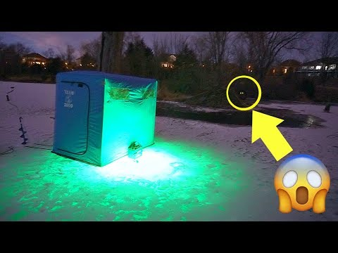 CREEPY NOISES while Ice Fishing at Night!!! [HAD TO LEAVE]