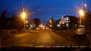 ОЧЕНЬ ЛОВКИЙ пешеход! Повезло!!!