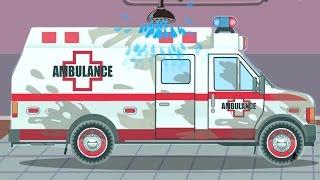 Kinderfilm deutsch: Der Krankenwagen Zeichentrick   Autos für Kinder   Lehrreicher Zeichentrickfilm